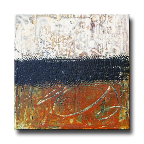 Haiku 85 - Acrylic on Cradled Panel, 8x8x2 inches